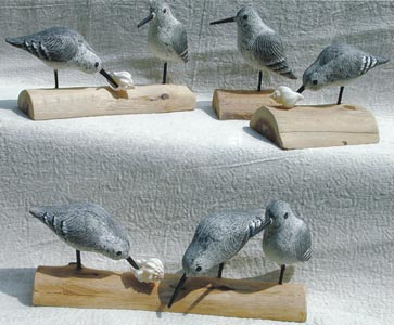 Richard Morgan handcarved birds - Sandpipers