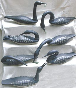 Richard Morgan handcarved birds - Loons